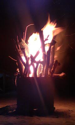 Bonfire at Malcapuya Island