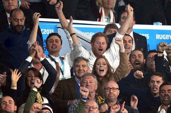 Prince Harry, James, Michael And Carole Middleton At Rugby World Cup