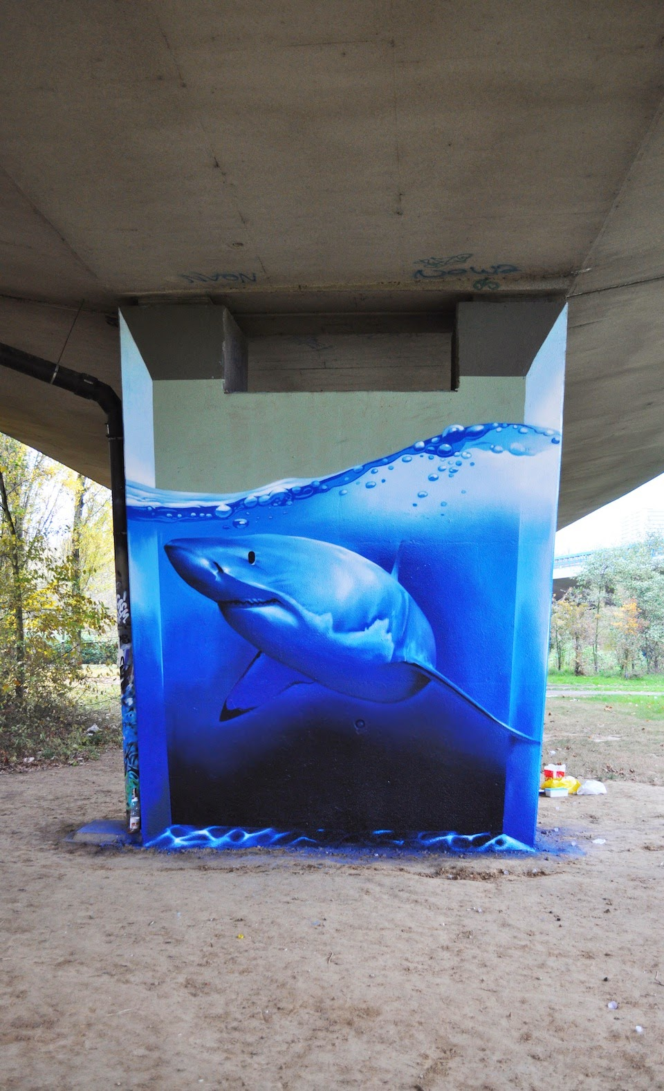 3d Shark Painting by Street Artist Smates