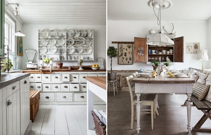 Hommie shabby chic country kitchen for Shabby chic country kitchen ideas