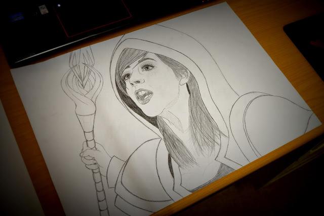 Drawing a magician girl - 4