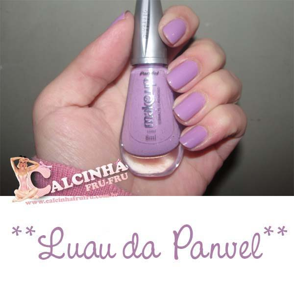 Luau - Panvel + Inglesinha Lilás com Borboletas