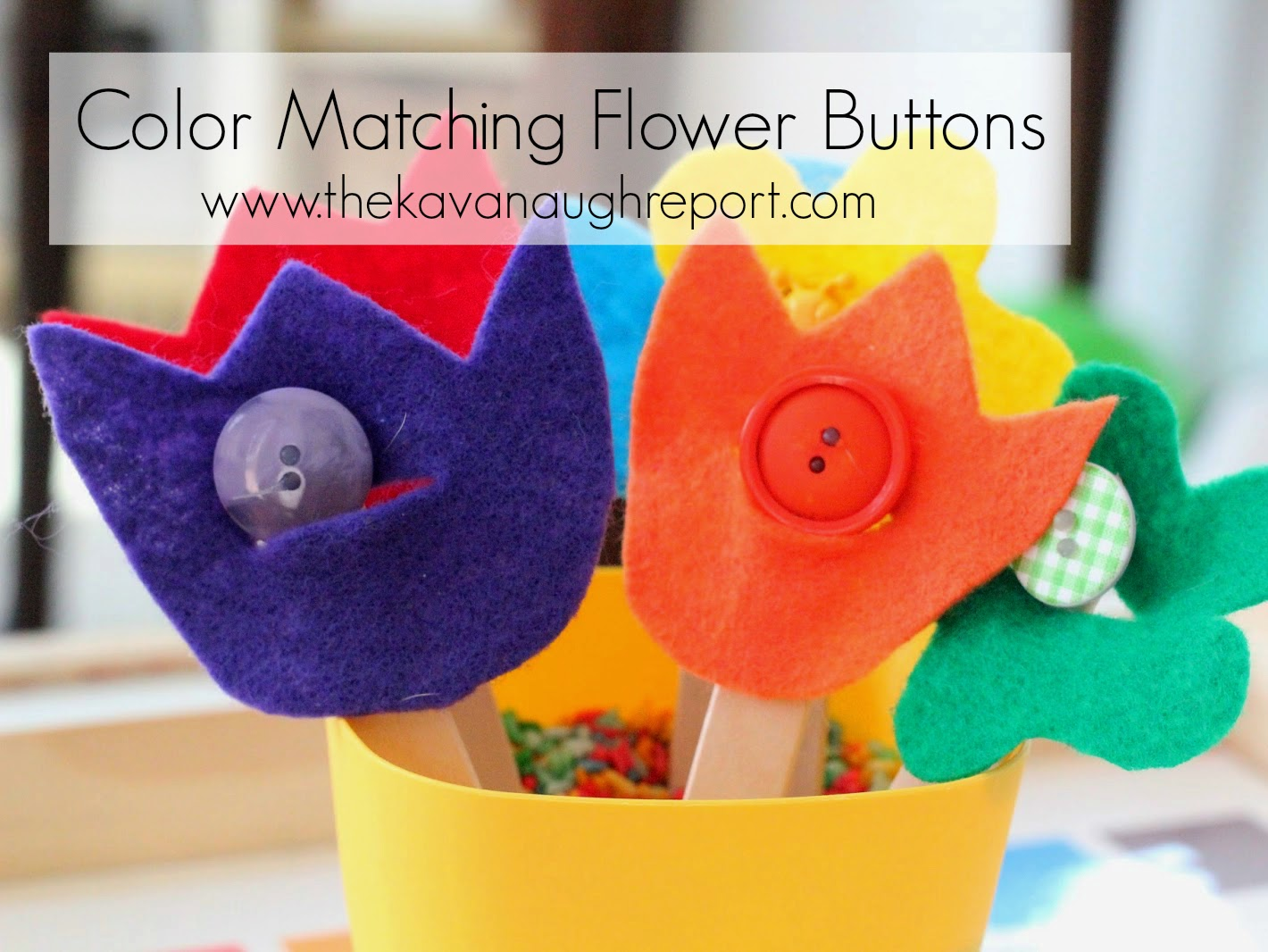 Button Flower Color Matching