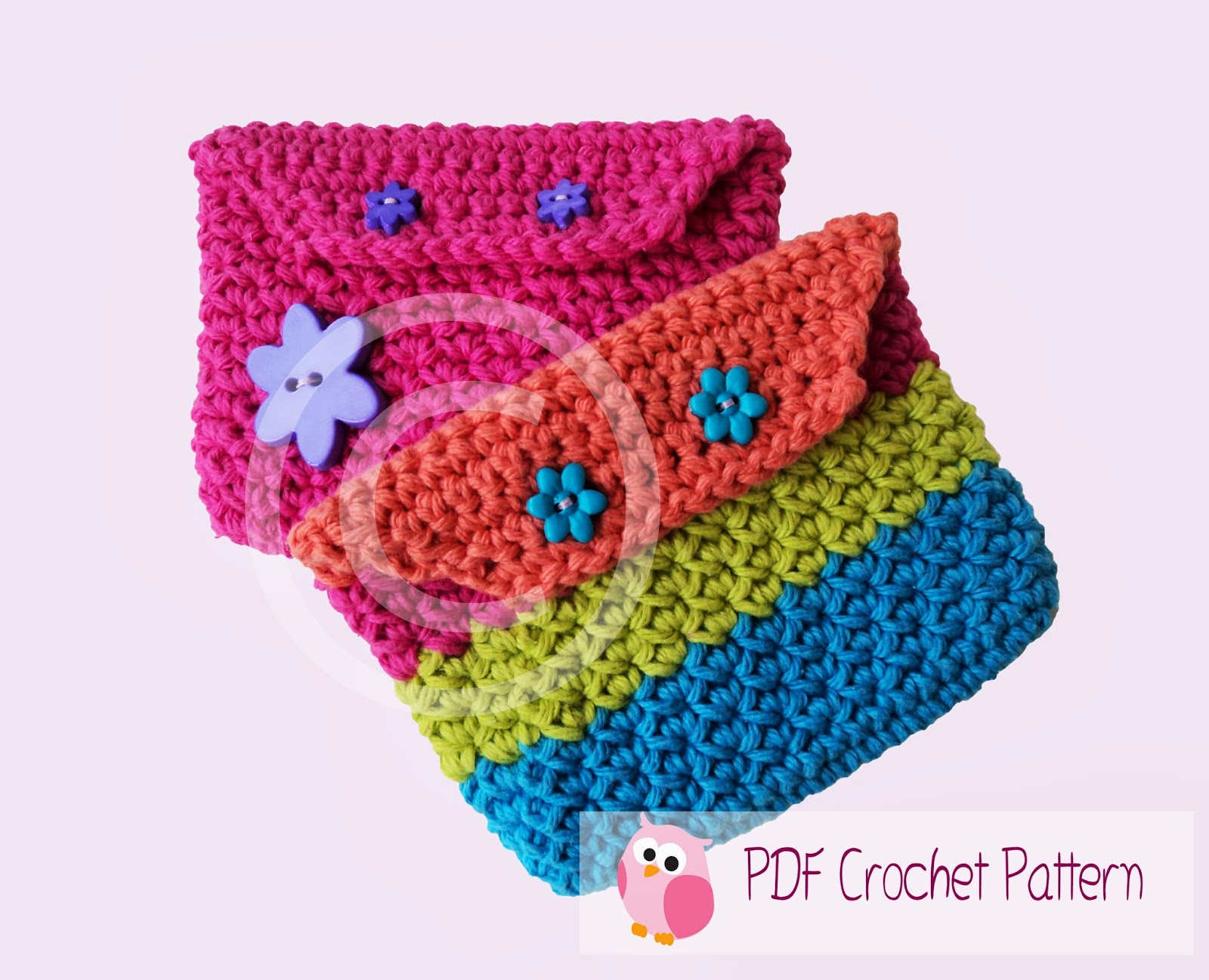 Cute Little Crafts: Crochet: Rainbow Coin Purse