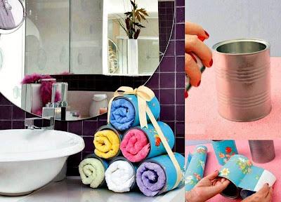 como colocar toallas en el baño