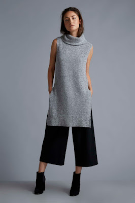 Wallis W Sleeveless Cowl Neck Tunic Jumper and Wallis W Split Waistband Culotte