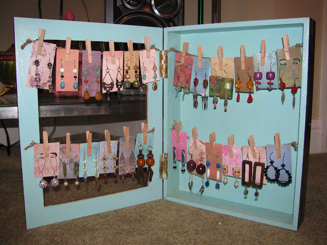 Art bead scene blog shadow box earring display tutorial for How to make a ring display for craft shows