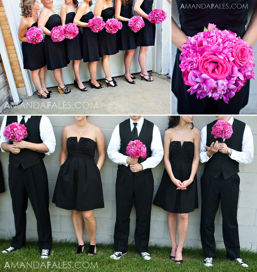Black Pink Wedding Dresses Hot Pink And Black Bridesmaid Dresses Images Pictures Becuo