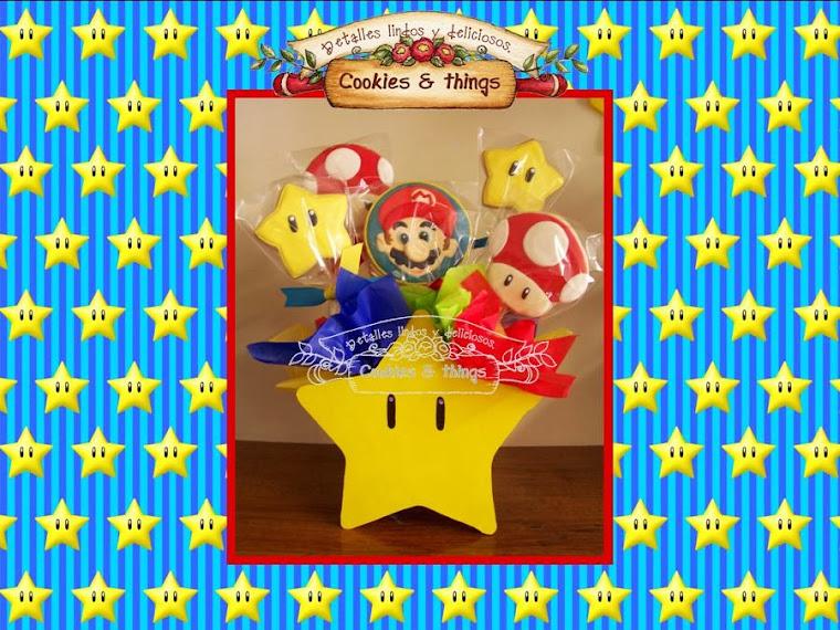 Centro de mesa Mario Bros