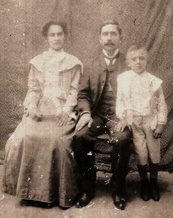 Coronel Zeca Sampaio e Dona Mará com o filho Luis