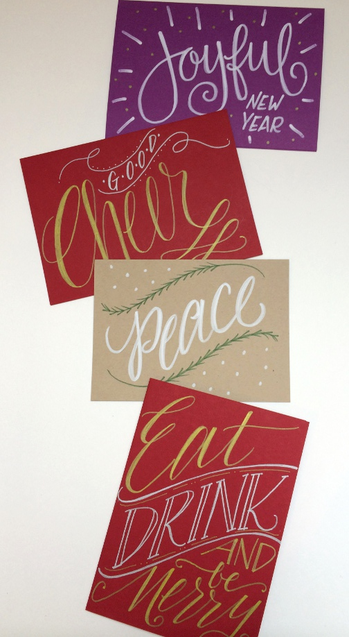 Lettering Lately > hand-lettered holiday cards