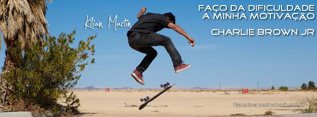 capa para facebook kilian Martin com frase de charlie brown Jr