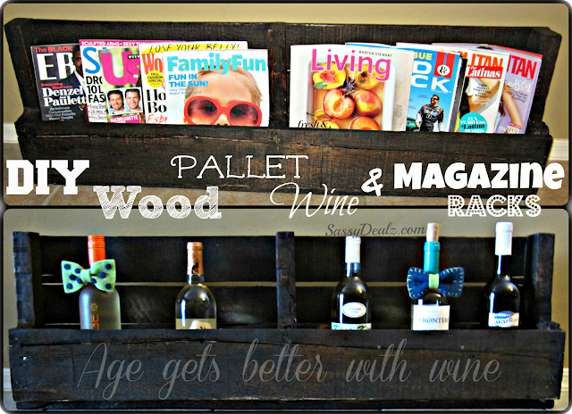 diy how to make a wood pallet wine rack or magazine holder