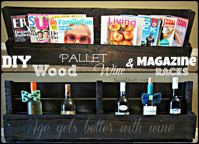 diy how to make a wood pallet wine rack or magazine holder