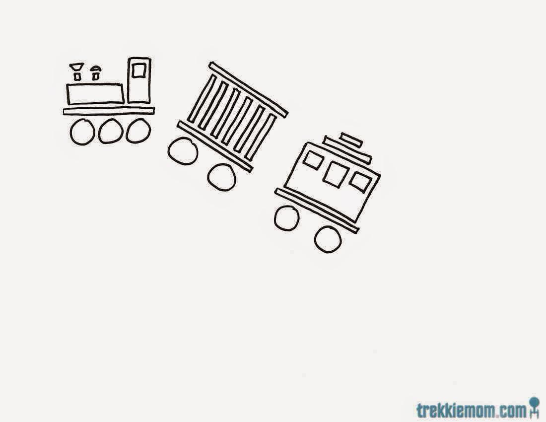 Hand Drawn Train Image 2