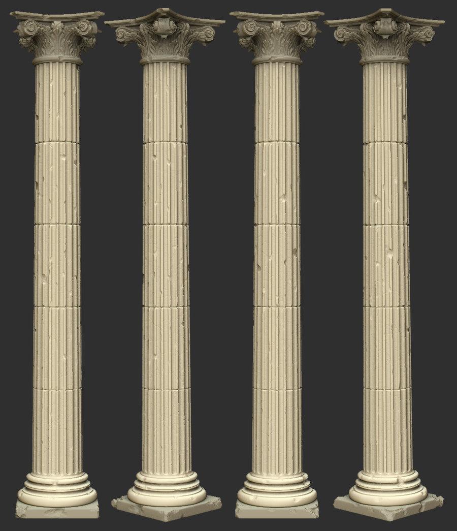 Pillars In White Room