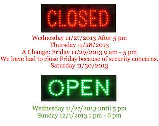 Open and Closed Hours