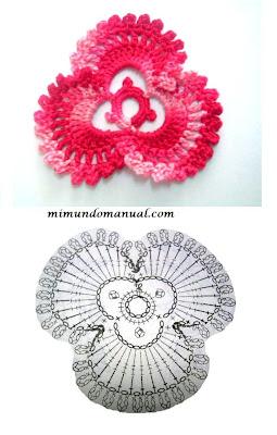 Graficos para imprimir flores tejidas