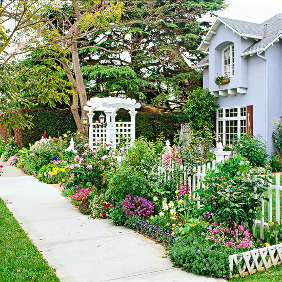 New Home Interior Design Front Yard Sidewalk Garden Ideas