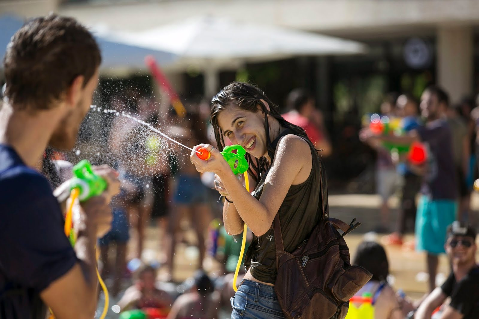 Splash in the Desert: Annual water fight makes a splash in Tel Aviv Despite Cancellation