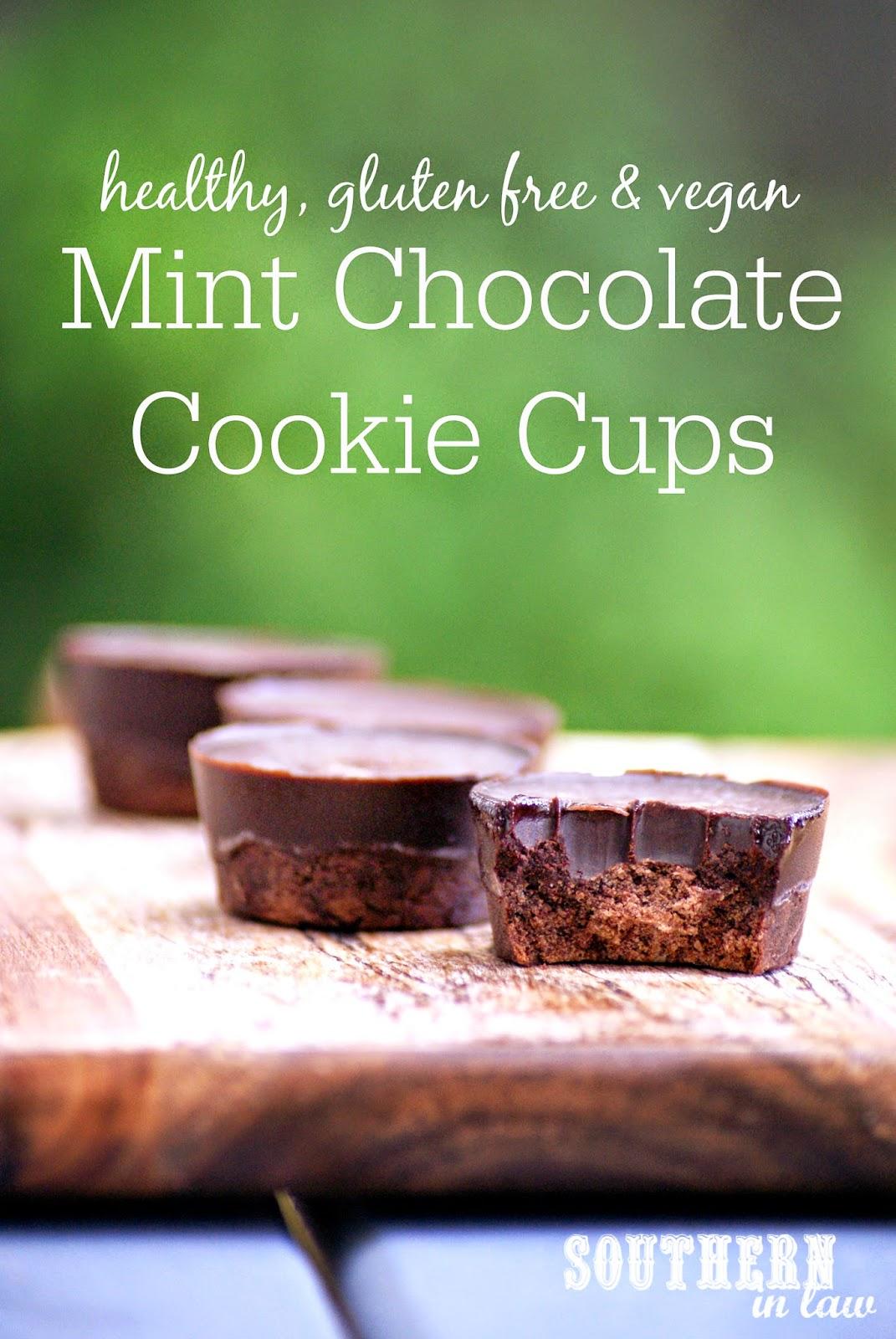 Healthy Mint Chocolate Fudge Cookie Cups Recipe - Healthy Mint Slice Biscuit Recipe - Healthy Thin Mint Cookie Recipe - gluten free, vegan, refined sugar free, dairy free, egg free