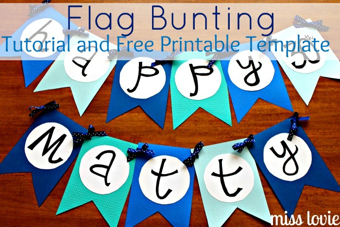 miss lovie flag bunting tutorial and free printable template
