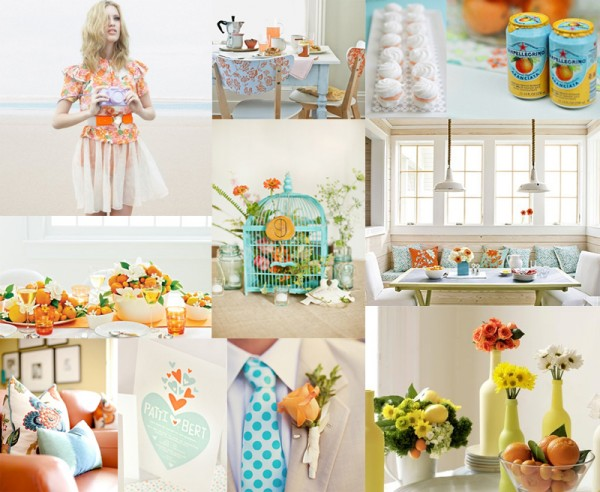 Inspiration Board Fresh Citrus Turquoise at 228 PM