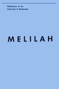 Melilah: A Volume of Studies cover