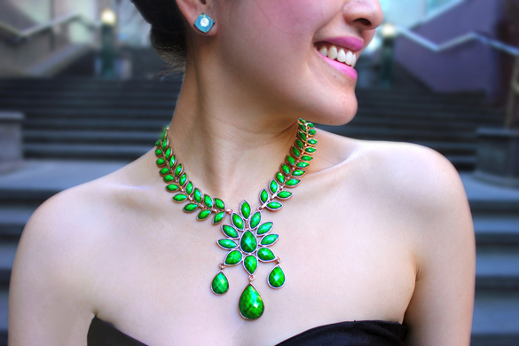 Amrita Singh Emerald Green Statement Necklace