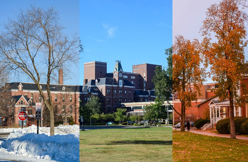 Maine Medical Center Hospital in Portland, Maine Different Seasons photo by Corey Templeton.