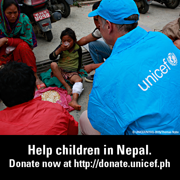 Donate to Unicef and Help Nepal