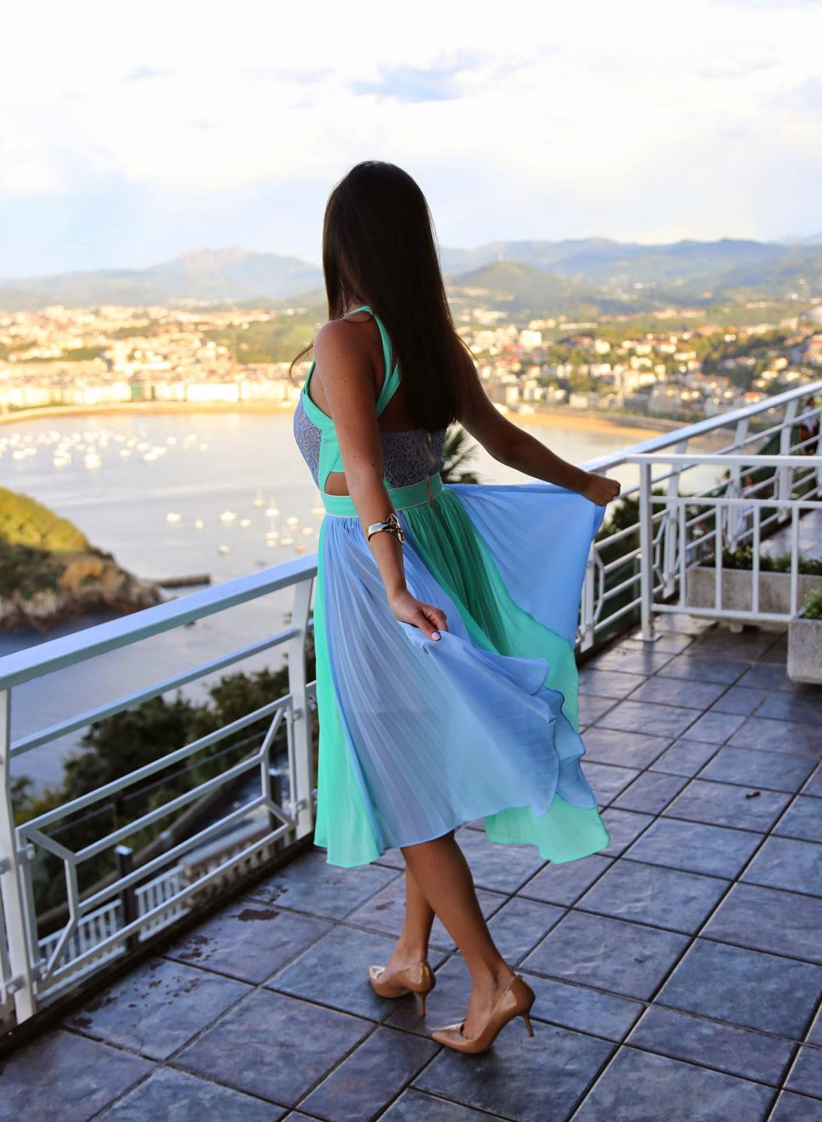 Fashion & Beauty Now: Mint y azul en San Sebastián