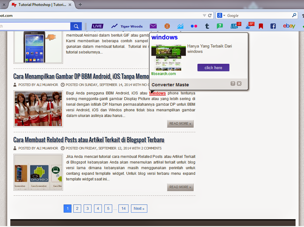 Cara Menghapus Link Iklan Spam Yang Muncul di Postingan Blog