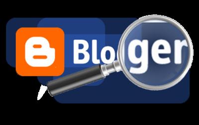Логотип Blogger и лупа