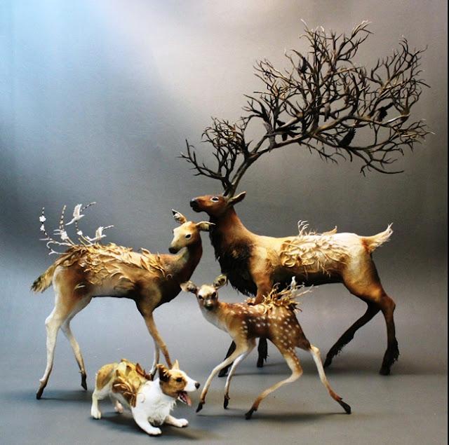 Ellen Jewett surreal fantasy sculpture