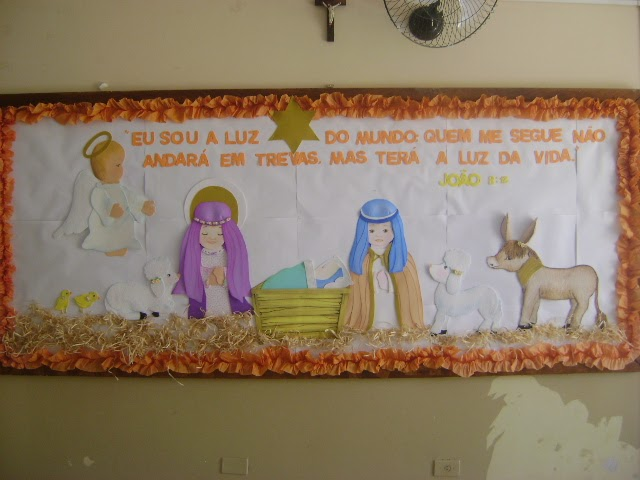 Almira artes mural pres pio de natal for Mural sobre o natal