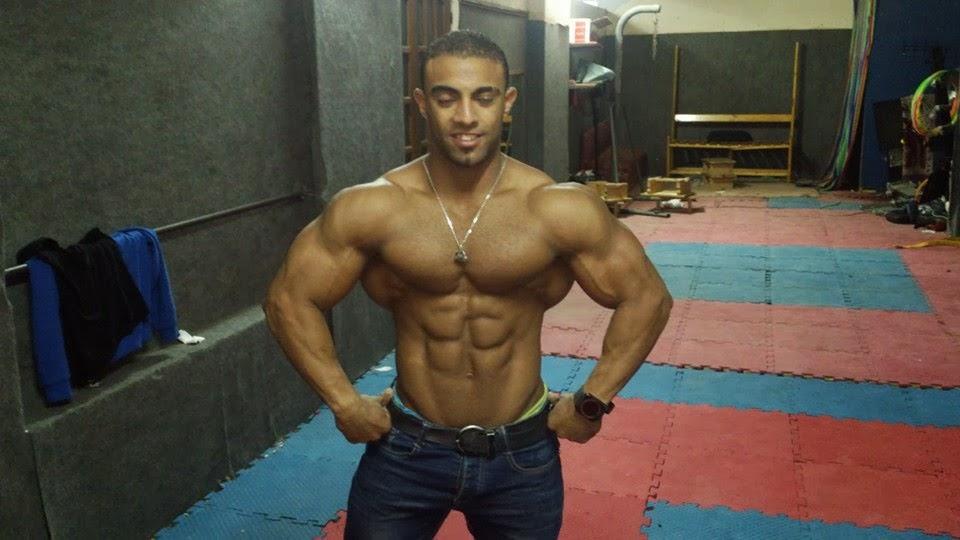 Goofy bodybuilder