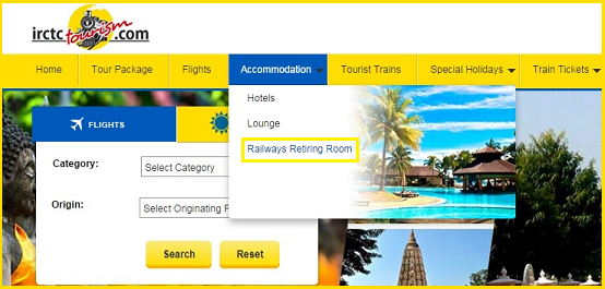 booking of retiring rooms