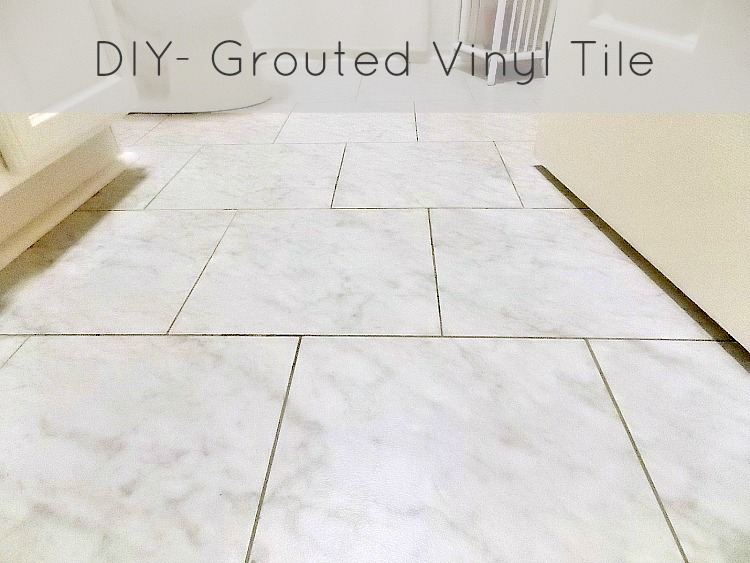 Vinyl Flooring Tiles With Grout Sweet Parrish Place Diy Grouted
