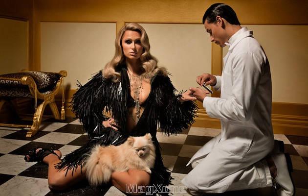 Paris Hilton's plastic Vanity Fair Spain, February 2012 cover