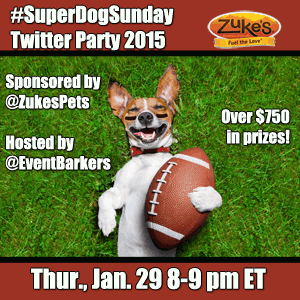 RSVP for #SuperDogSunday with Zuke's; $750+ in prizes!