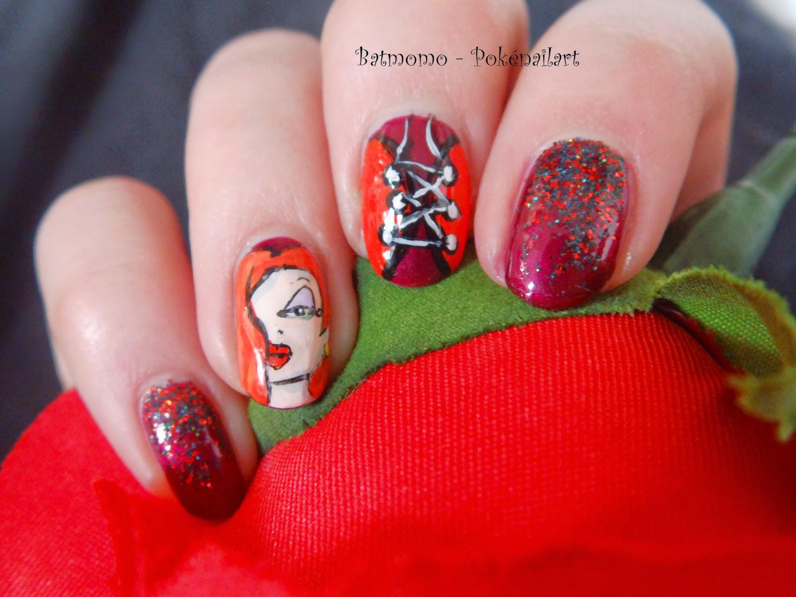Pokénailart: Nail Challenge Collaborative - Skittlette - Jessica Rabbit