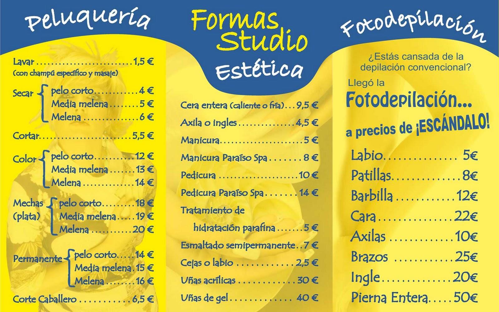 Formas precios 2012 para las peluquerias formas - Espejos peluqueria precios ...