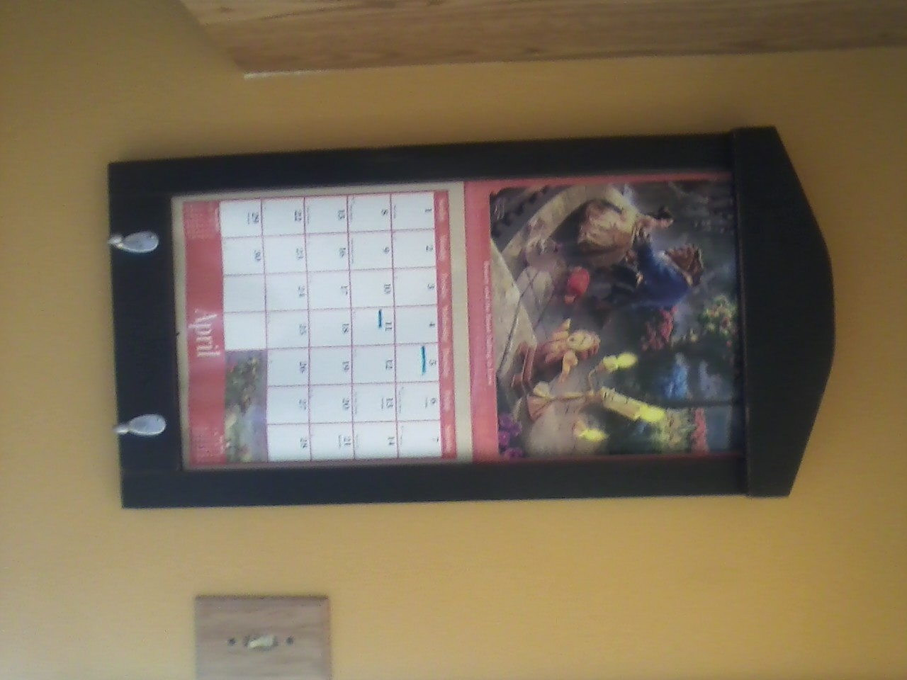 you can buy it here wood framed perpetual calendar holder