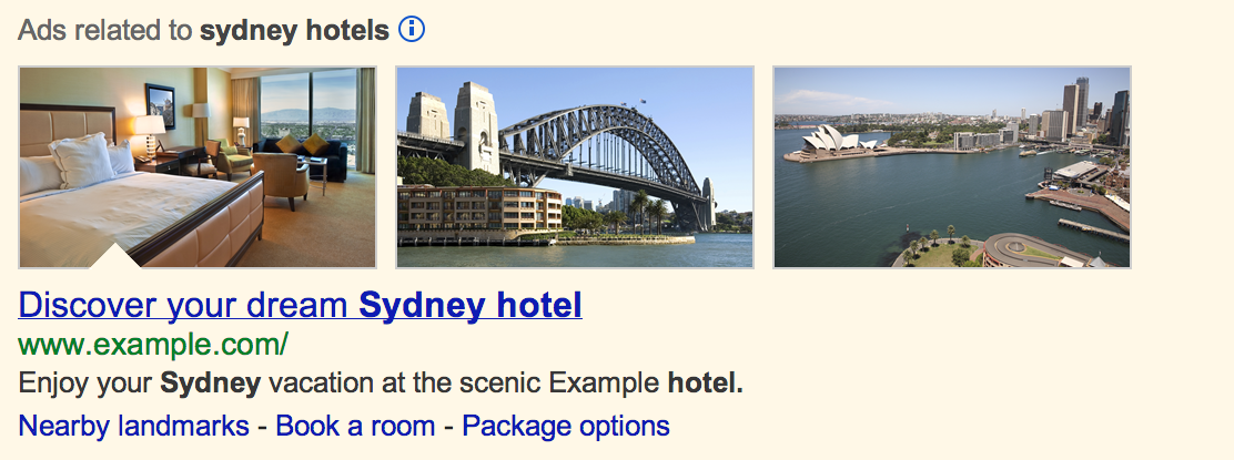 image extensions to AdWords for search