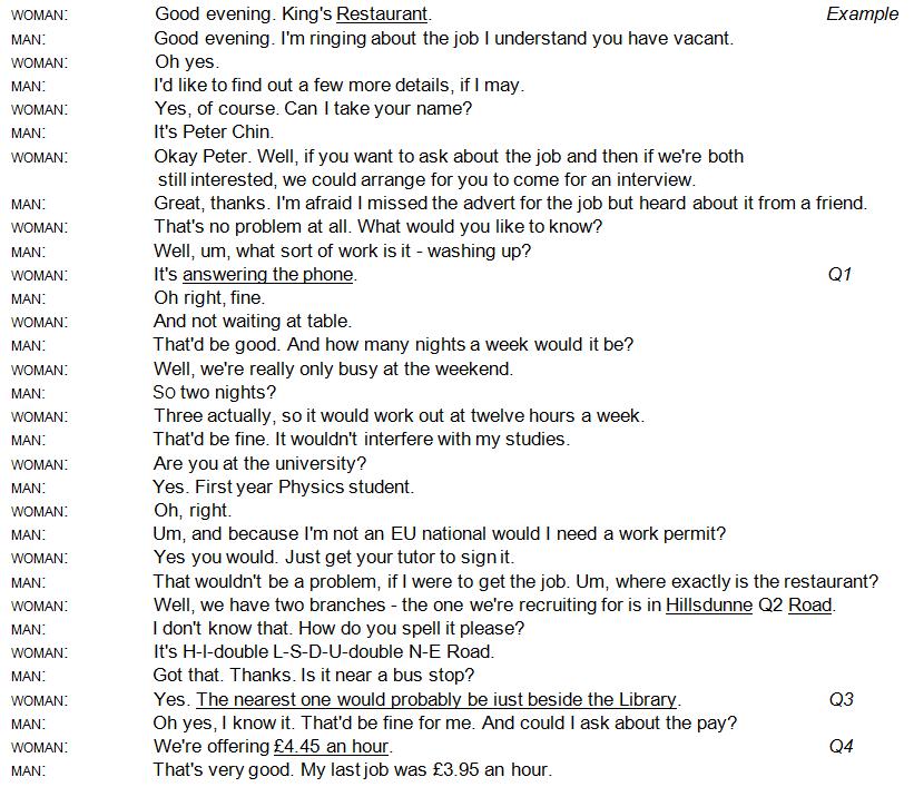 Ielts Tutor Ielts 9 Test 1 Listening Transcript