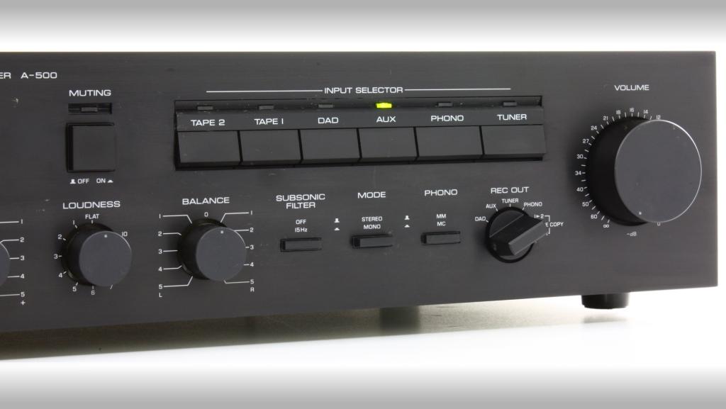 yamaha a 500 integrated amplifier audiobaza