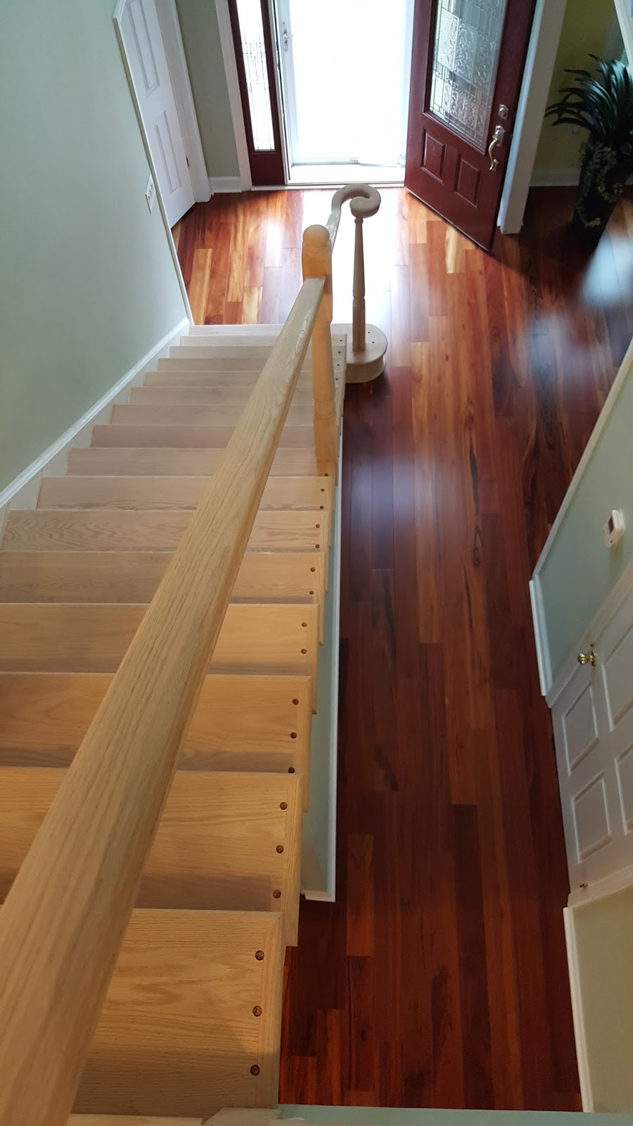It Is Important To Integrate The 2nd Floor Balcony Railing, Post And Landing  Tread/stair Nose As Parts Of The Whole Staircase. All The Holes For Wrought  ...