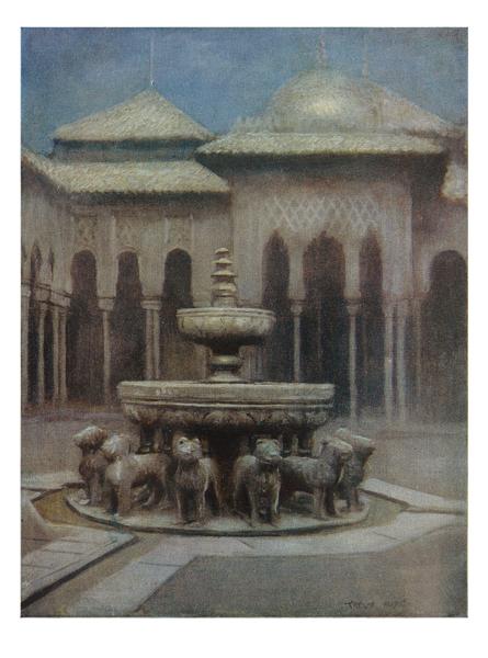 grabadofilia: Patio de los Leones (Parte 2ª).- Alhambra.- Cour des Lions( 2em...