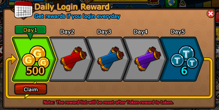 MMORPGs Daily Log in Rewards